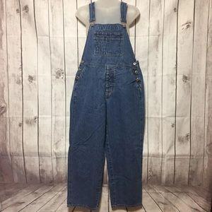 Vintage London Jeans Denim Bib Overalls M Blue